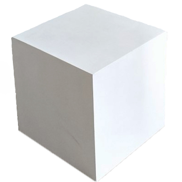 Rent Cube Small 400Mm X 400Mm X 400Mm, Painted White RENTCUBEW-S