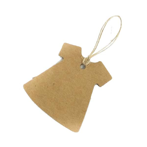 Dress Swing Tag Brown 50X50mm (100pcs/ pack)