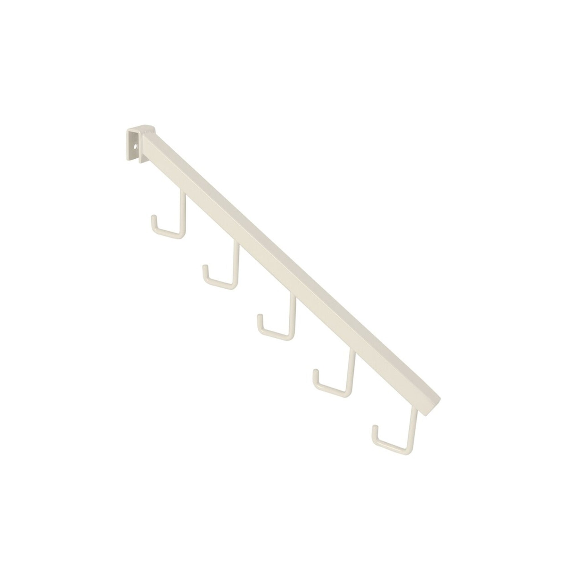 MAXe Backrail Angled Arm with 5 Hooks - 405mm D x 18mm x 18 mm section (E4860)