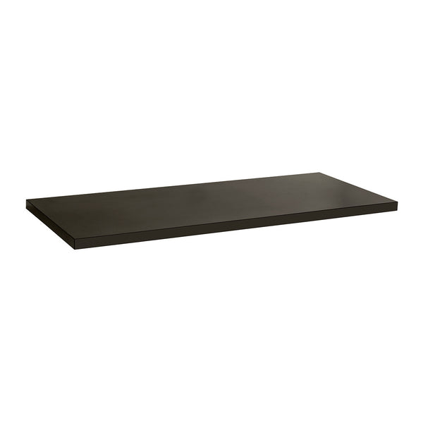 Additional shelf for F4012 counter with shelf supports  1126 W x 465 D x 30 mm Thick F4022BK