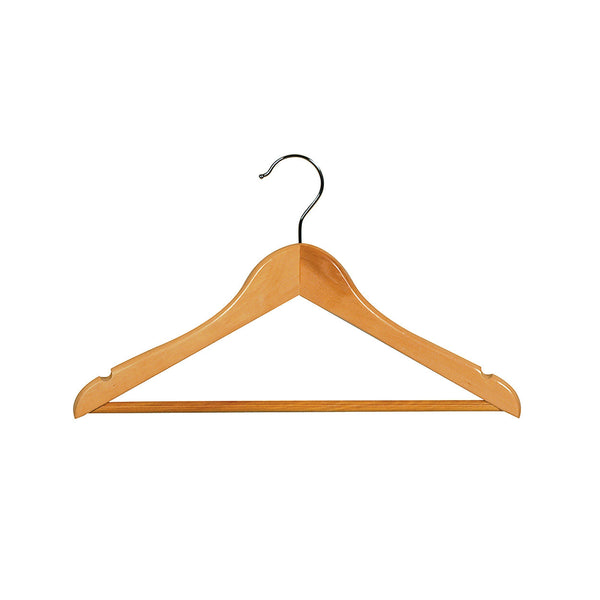 Beech Child Top Timber Hanger With Rail & Notches 350 W X 12Mm Thick (Bundle of 10)