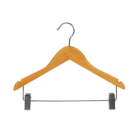 Beech Child Top Timber Hanger With Notches, Dropdown Rail & Clips 350 W X 12Mm Thick (Bundle of 10)