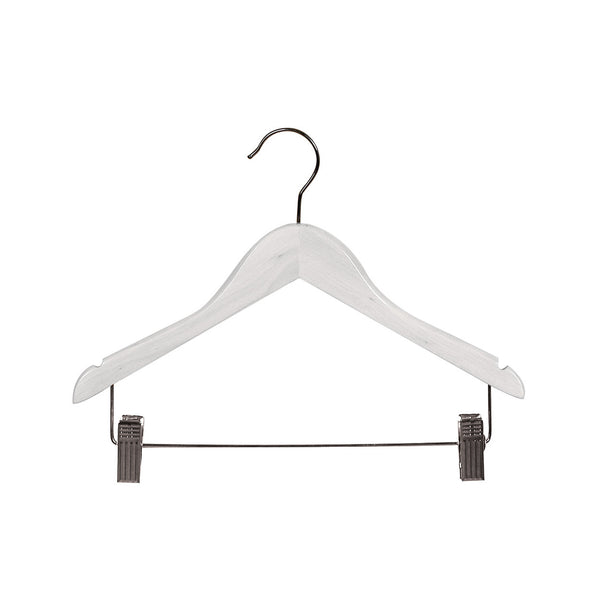 White Child Top Timber Hanger With Notches, Dropdown Rail & Clips 350 W X 12Mm Thick (Bundle of 50)