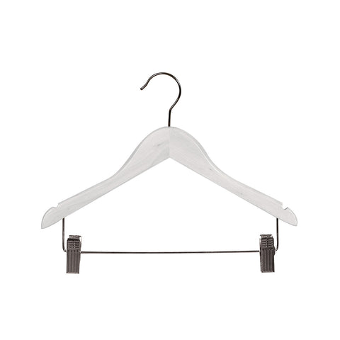 White Child Top Timber Hanger With Notches, Dropdown Rail & Clips 350 W X 12Mm Thick (Bundle of 10)