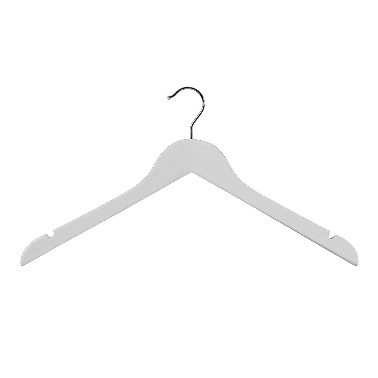 White Top Timber Wishbone Hanger With Notches 440 W X 14Mm Thick White (Box of 100)