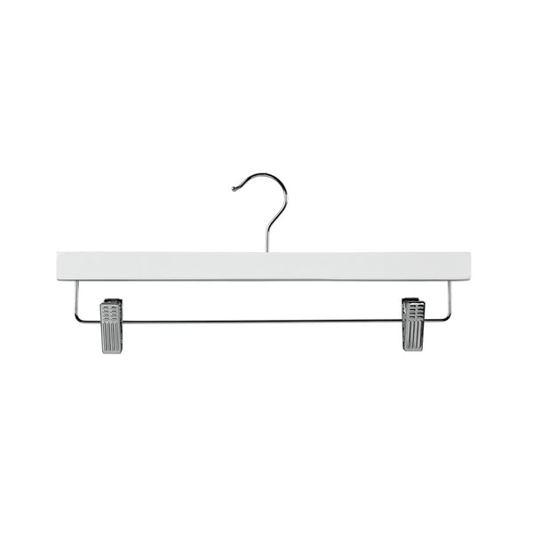 White Clip Timber Hanger With Dropdown Rail & Clips 380 W X 12Mm Thick (Bundle of 10)