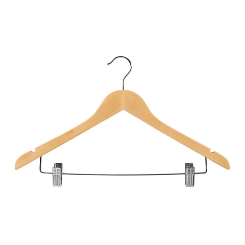 Beech Top Timber Hanger With Notches Dropdown Rail & Clips 440 W X 14Mm Thick (Bundle of 10)