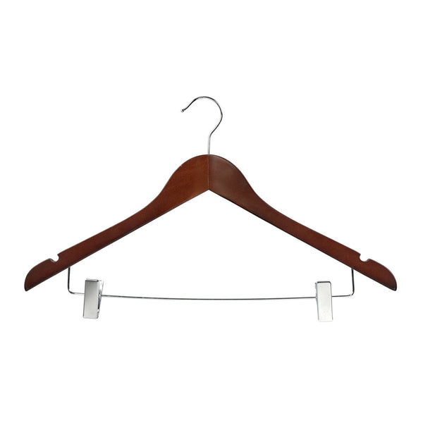 Wenge Top Timber Hanger With Notches Dropdown Rail & Clips 440 W X 14Mm Thick (Bundle of 10)