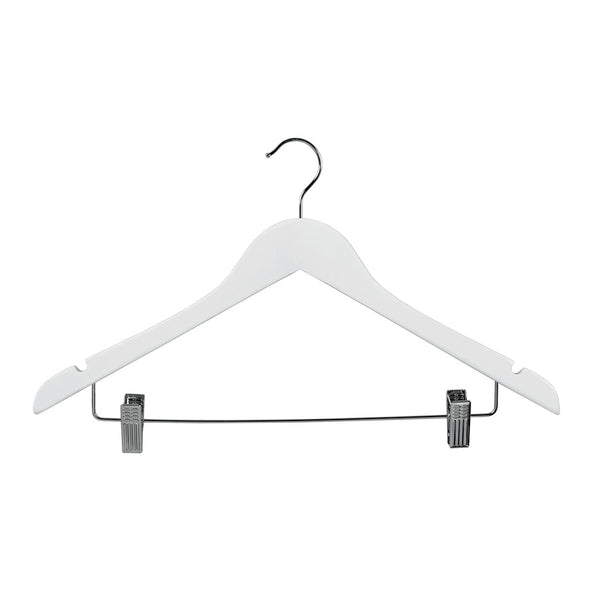 White Top Timber Hanger With Notches Dropdown Rail & Clips 440 W X 14Mm Thick (Bundle of 50)