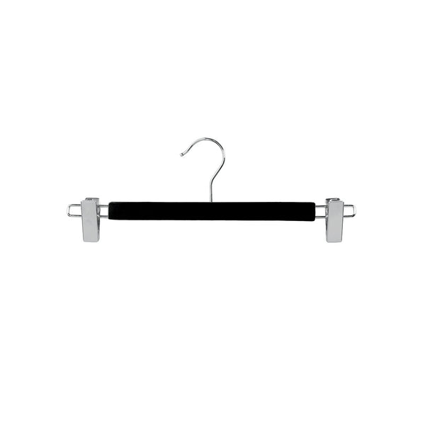Black Clip Timber Hanger With Chrome Clips At Ends 330 W X 12Mm Thick (Box of 100)