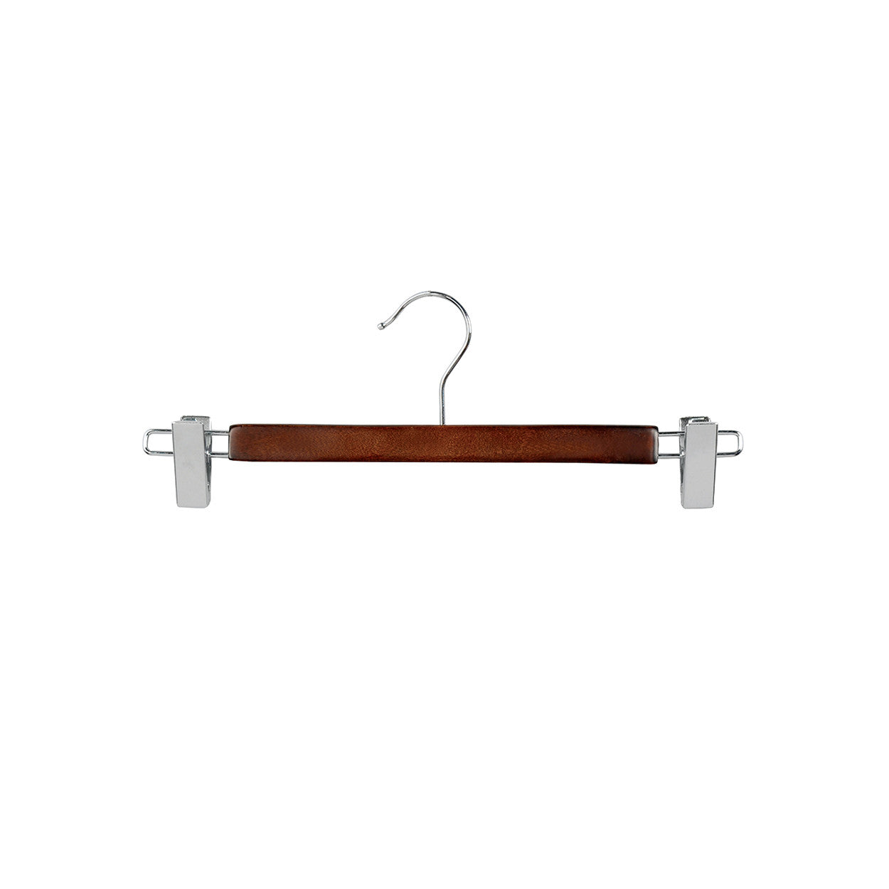 Wenge Wooden hanger with clips at ends 330Wx12mm Thick (Box of 100) H2634WE-100