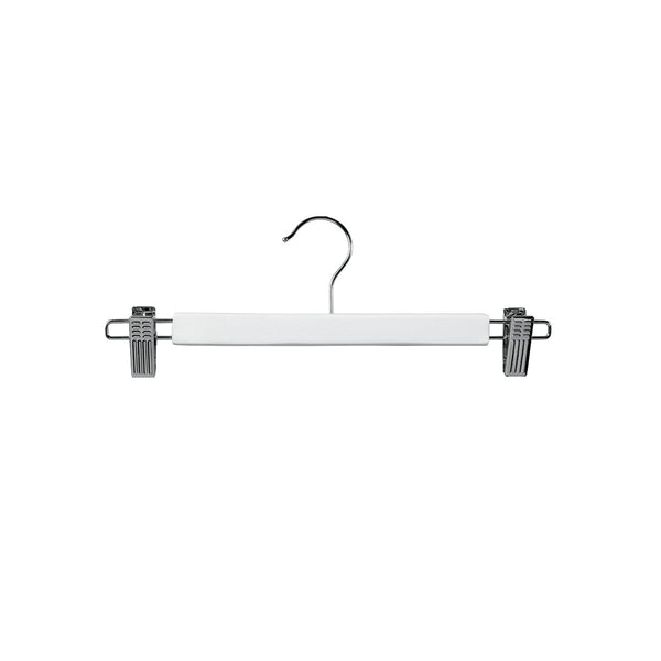 White Clip Timber Hanger With Chrome Clips At Ends 330 W X 12Mm Thick (Bundle of 10)