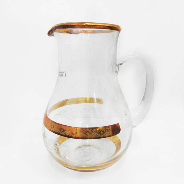 RENT Glass Jug with Gold decorative