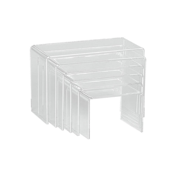 Acrylic Bridge Set Rectangular With 6 Nesting Pieces Max 220 W X 145 H X 100Mm D