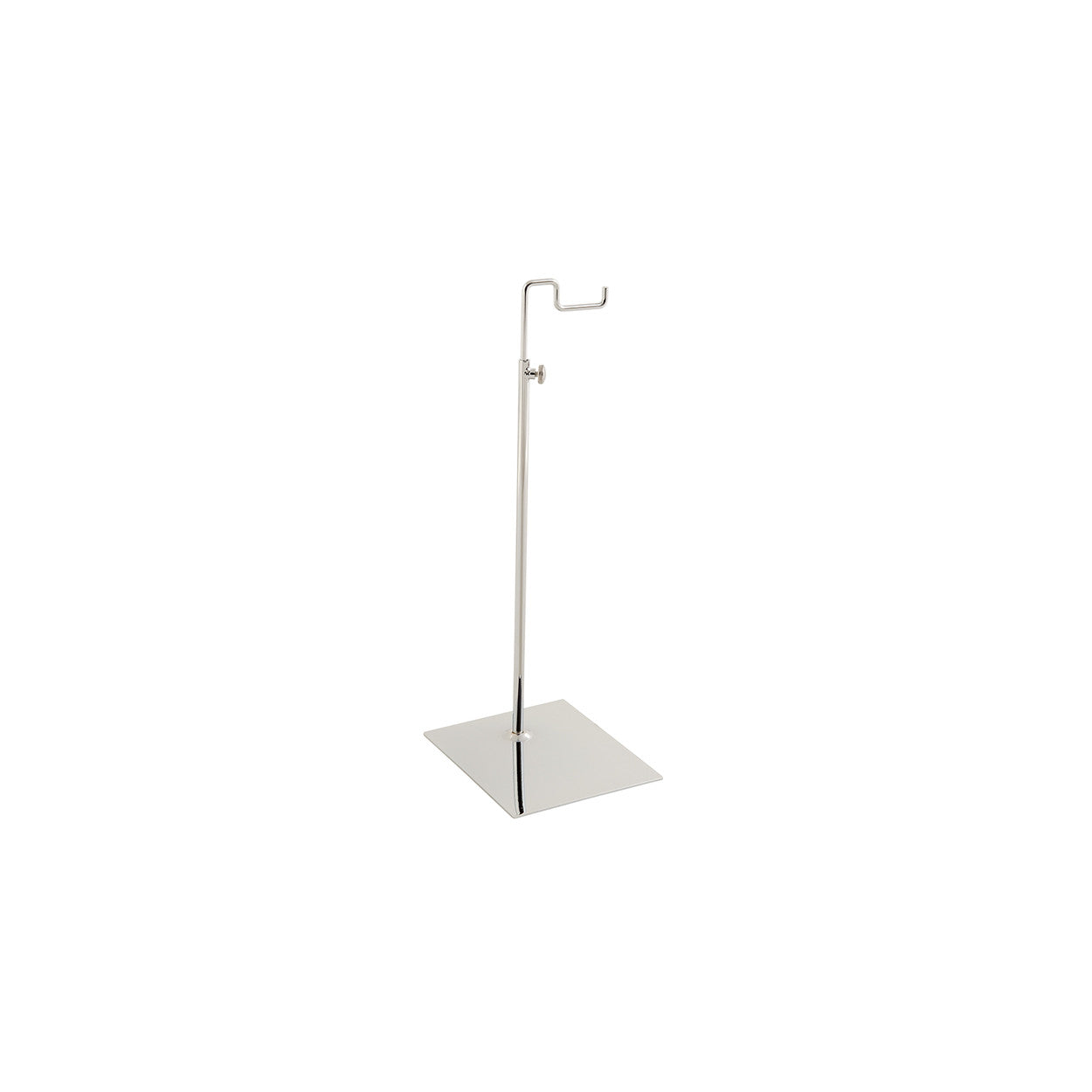 Budget handbag display stand small with solid base  150x120 base,300-570 mm Adj H M2801CH
