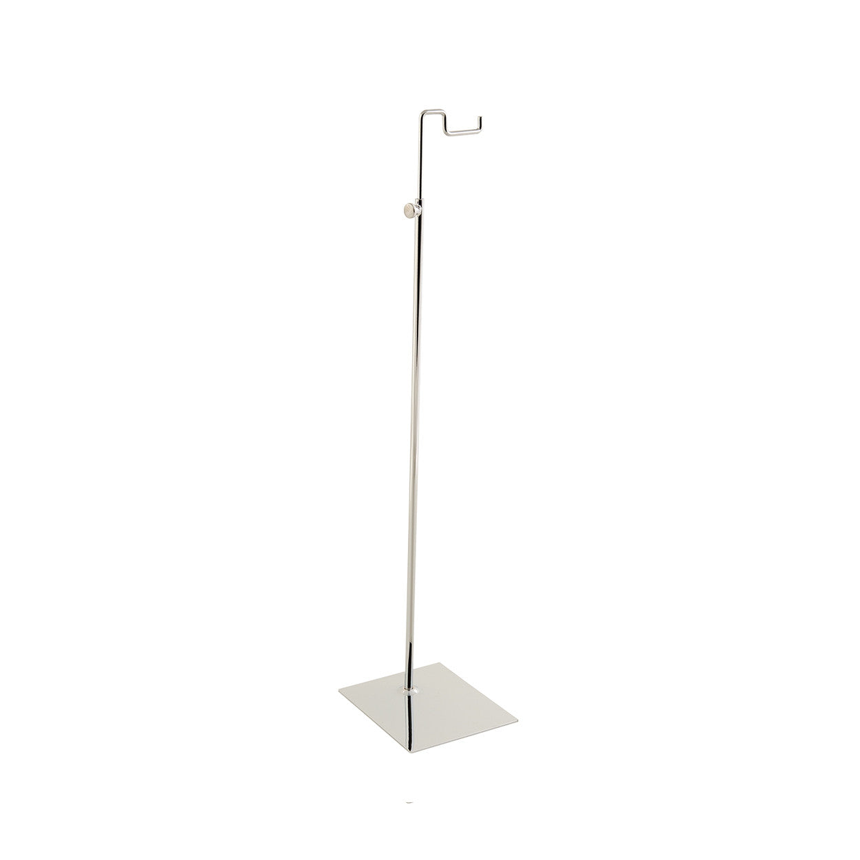 Budget handbag display stand large with solid base  150x120 base,510-770 mm Adj H