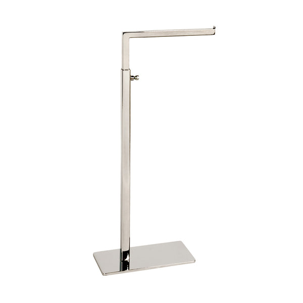 Standard Handbag Display Stand Single Sided 140 X 90 Base,410-720Mm Adj H Chrome
