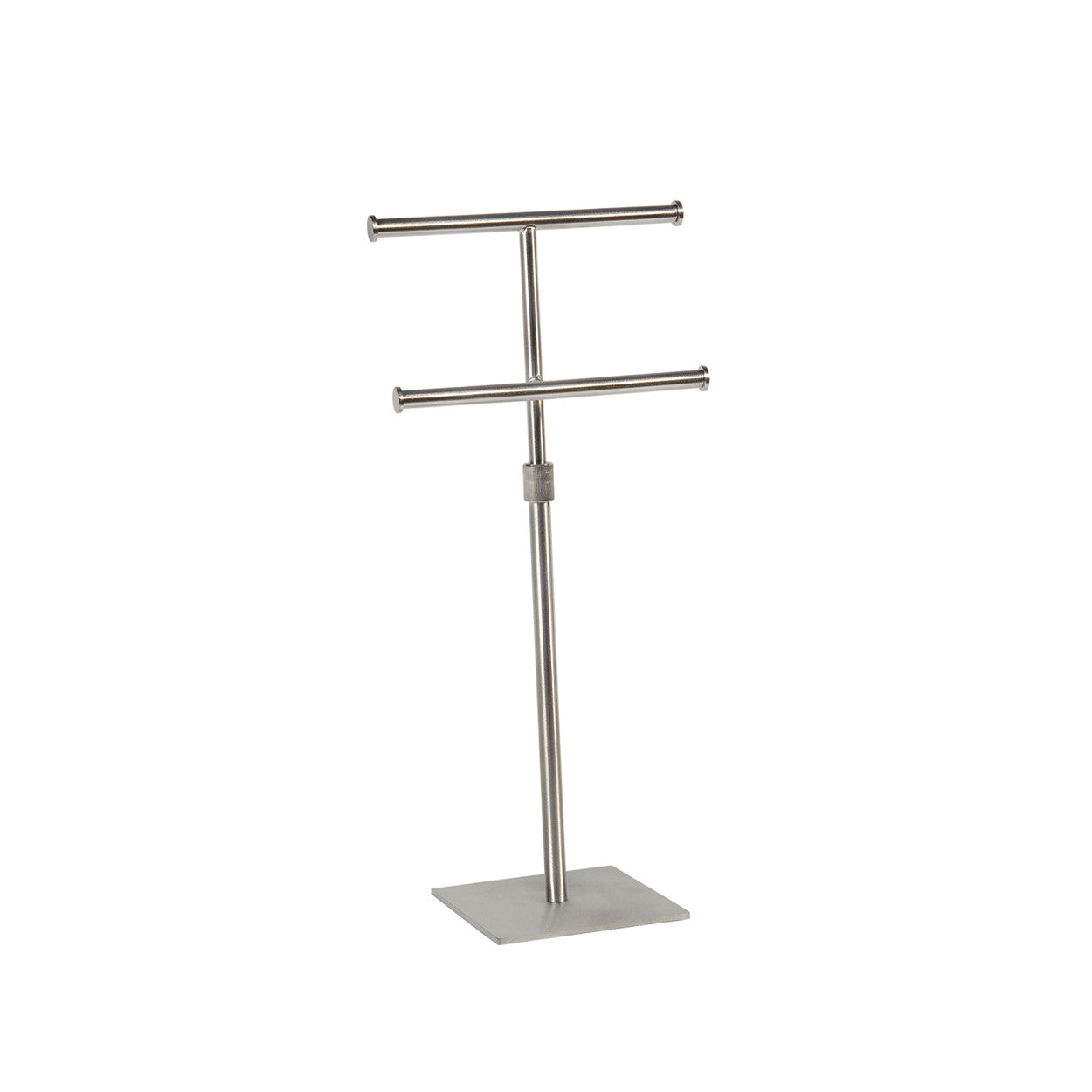 Two Tier Hanging Jewellery Display with Adjustable Height 150 mm sq base 300-570 mm Adj H (M2832SC)