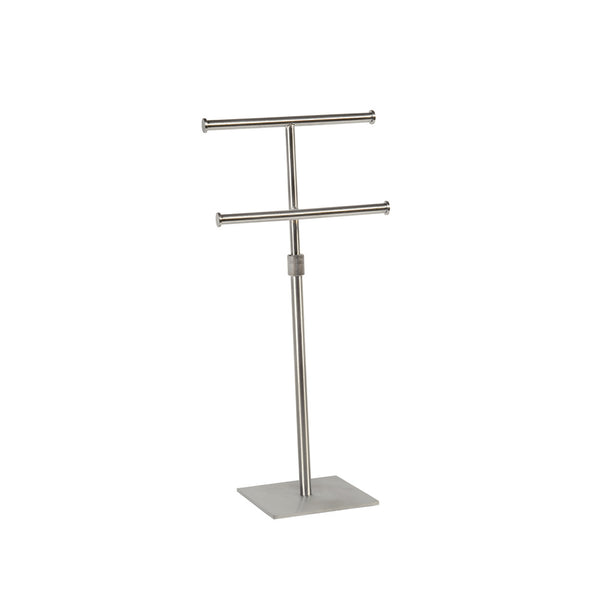 Two Tier Hanging Jewellery Display With Adjustable Height 150Mm Sq Base 300-570Mm Adj H