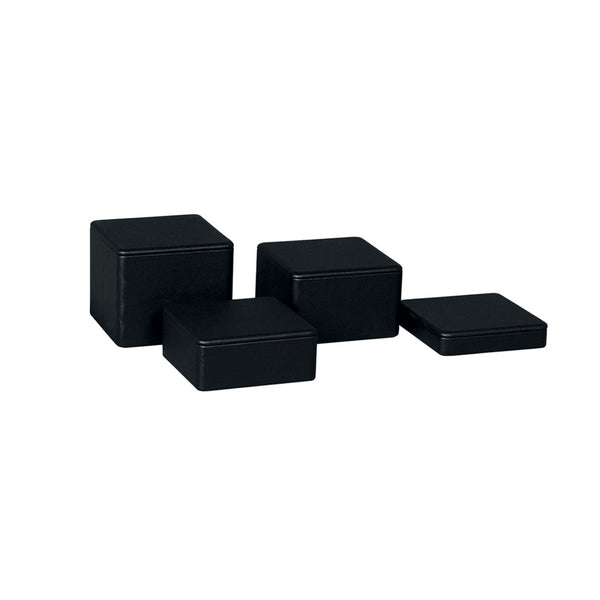 Leatherette Square Riser Set Of 4 Heights 120Mm Sq 105, 80, 50, 30Mm H