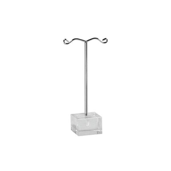 Earring Stand On Cube, Small 25mm sq base x 80mm H
