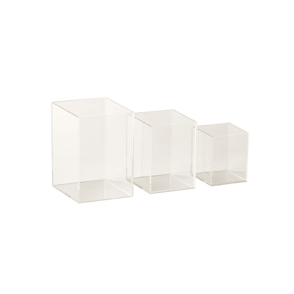 Acrylic Jewellery Plinth Set With 3 Nesting Pieces 100 H, 80 H , 60Mm H