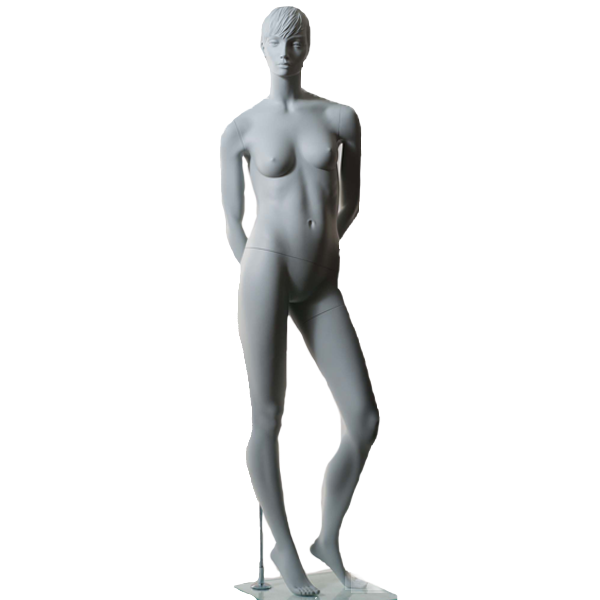 RENT Female Mannequin VC3A,HeadV1, Ral9001,Glass Square Base RENT1ABVAR2-2