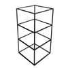 RENT Black Frame Glass Shelf Tower 3 Levels