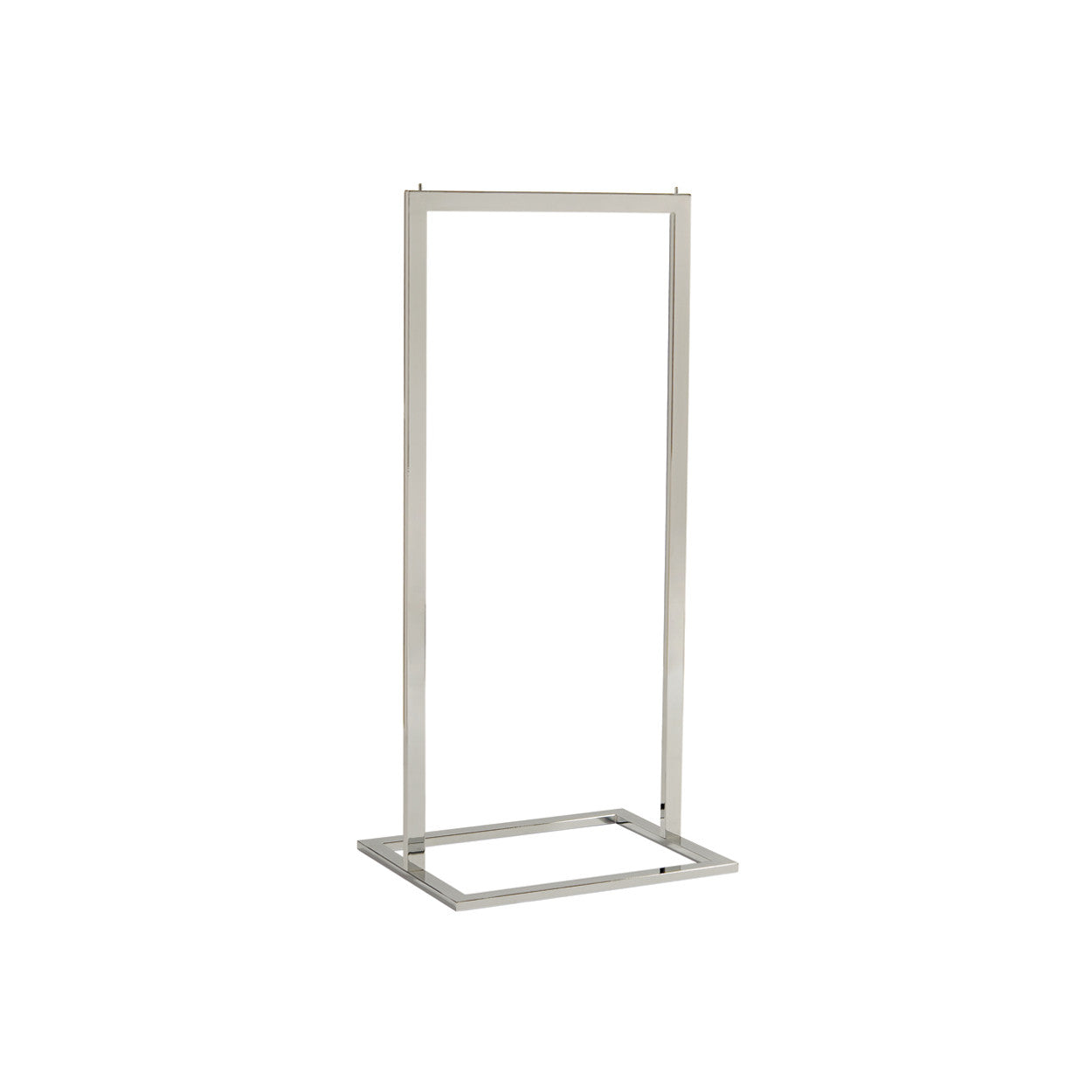 Style Clothes Rack - Single Rail in Chrome (600mm W x 1317mm H x 457mm D)