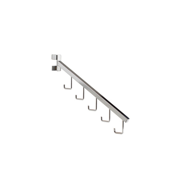 Twist-Lock Angled Arm With 5 Hooks For 2-Way & 4-Way Rack 380Mm L