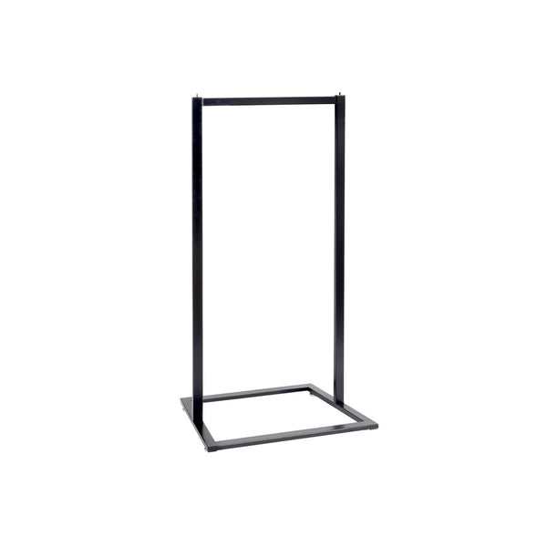 Style clothes rack single rail  600 W x 1317 H x 457 mm D R3506BK