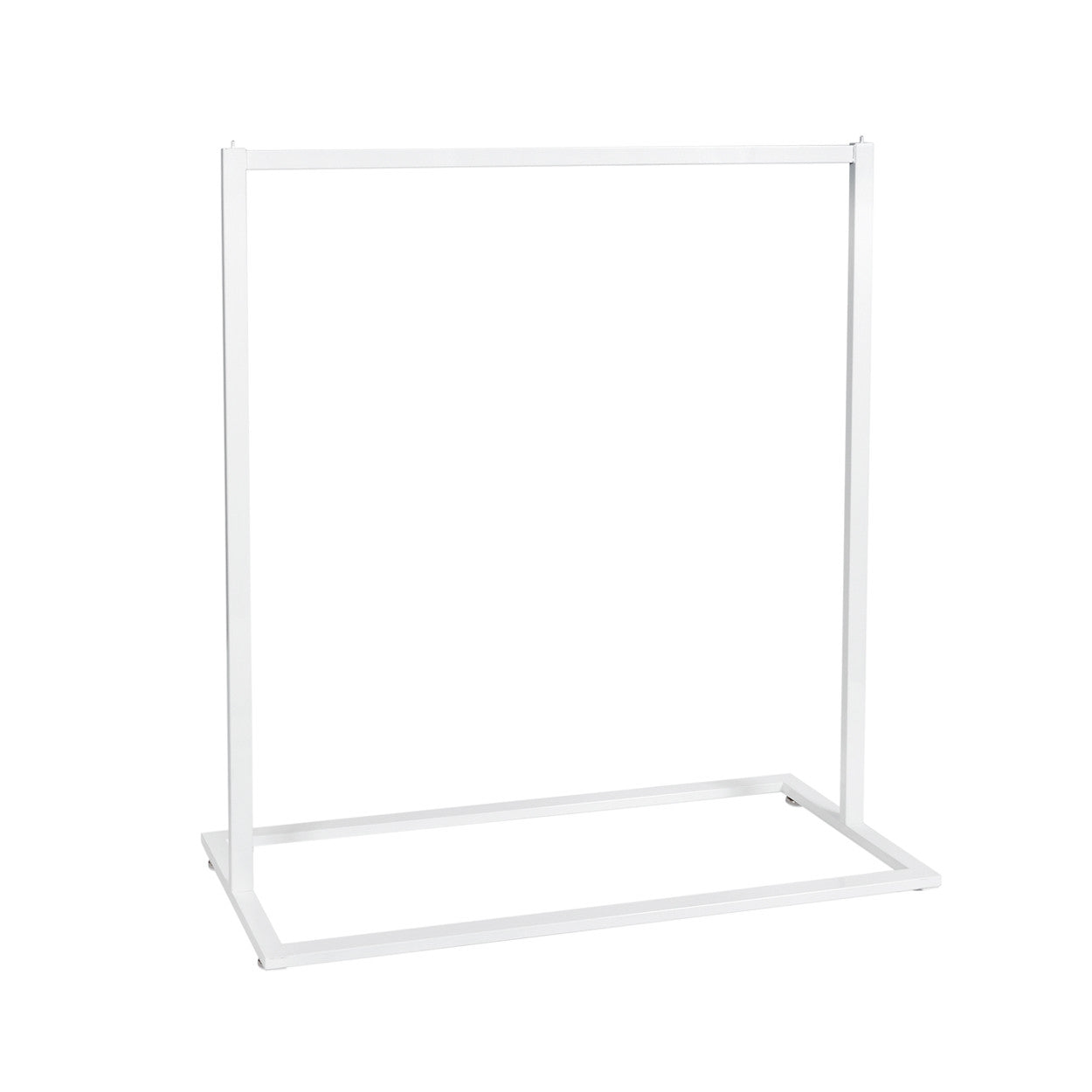 Style Clothes Rack - Single Rail in White (1200 W x 1317 H x 457 mm D)
