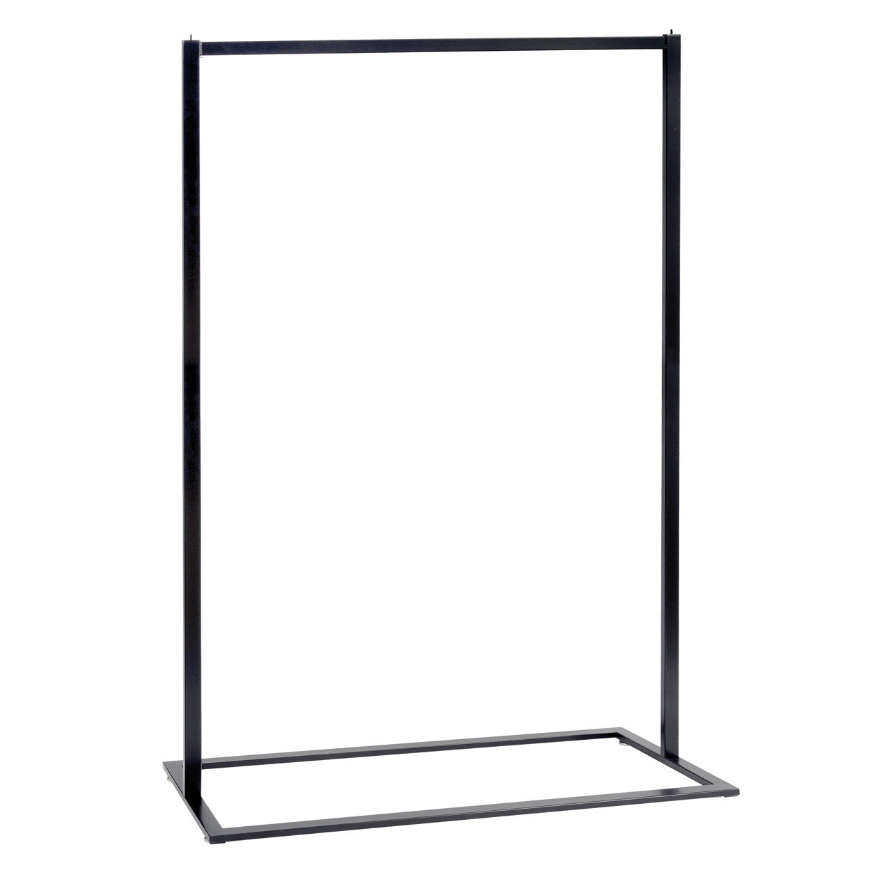 Style Clothes Rack - Single Rail in Black (1200mm W x 1650mm H x 457 mm D)