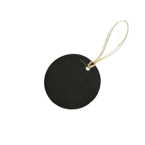 Circle Swing Tag Black 50mm DIA (100pcs/ pack)