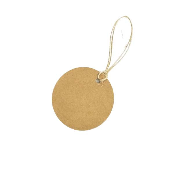 Circle Swing Tag Brown 50mm DIA (100pcs/ pack)