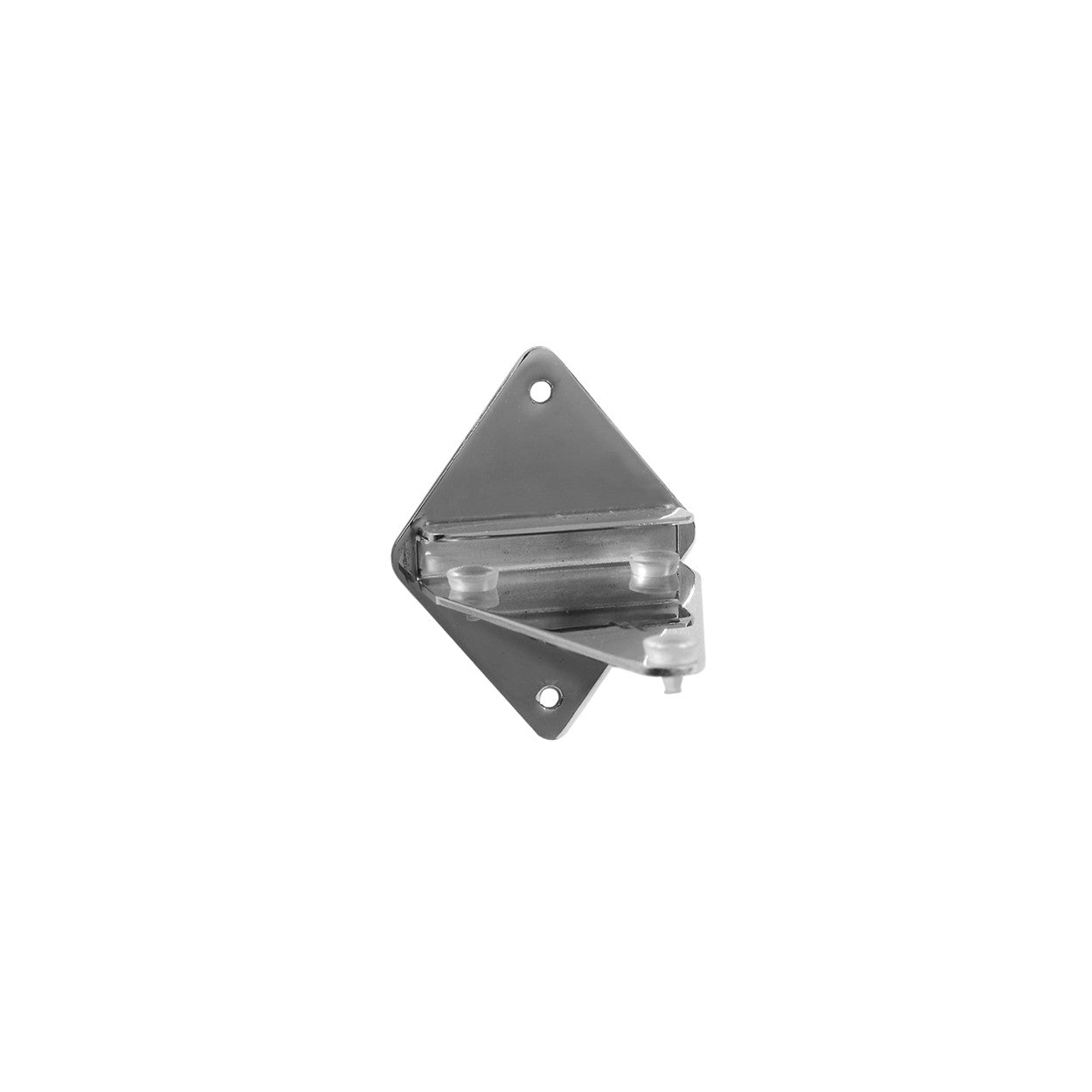 Wall mount cantilever bracket suitable for glass shelves  for 8 mm shelves 95 x 75 H Back S1653CH