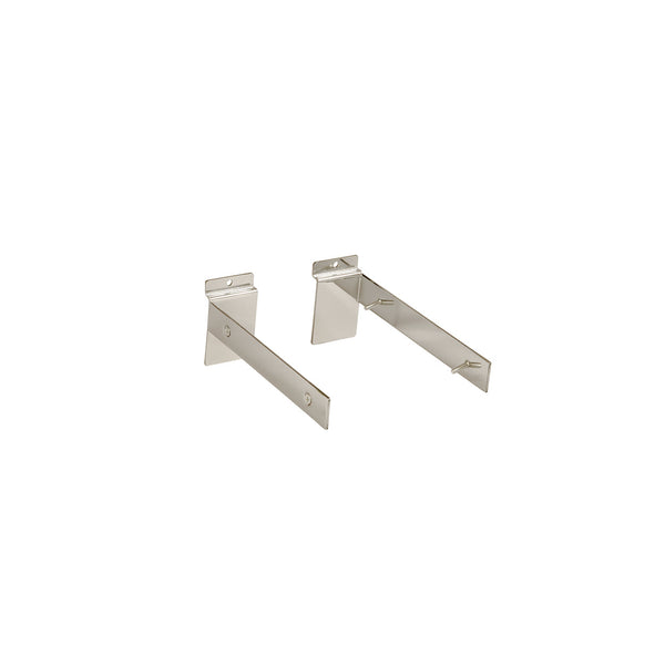 Slot System Fixed Shelf 200 Mm Bracket Set With Screws 200 D X 30 H X 2.5Mm Thick