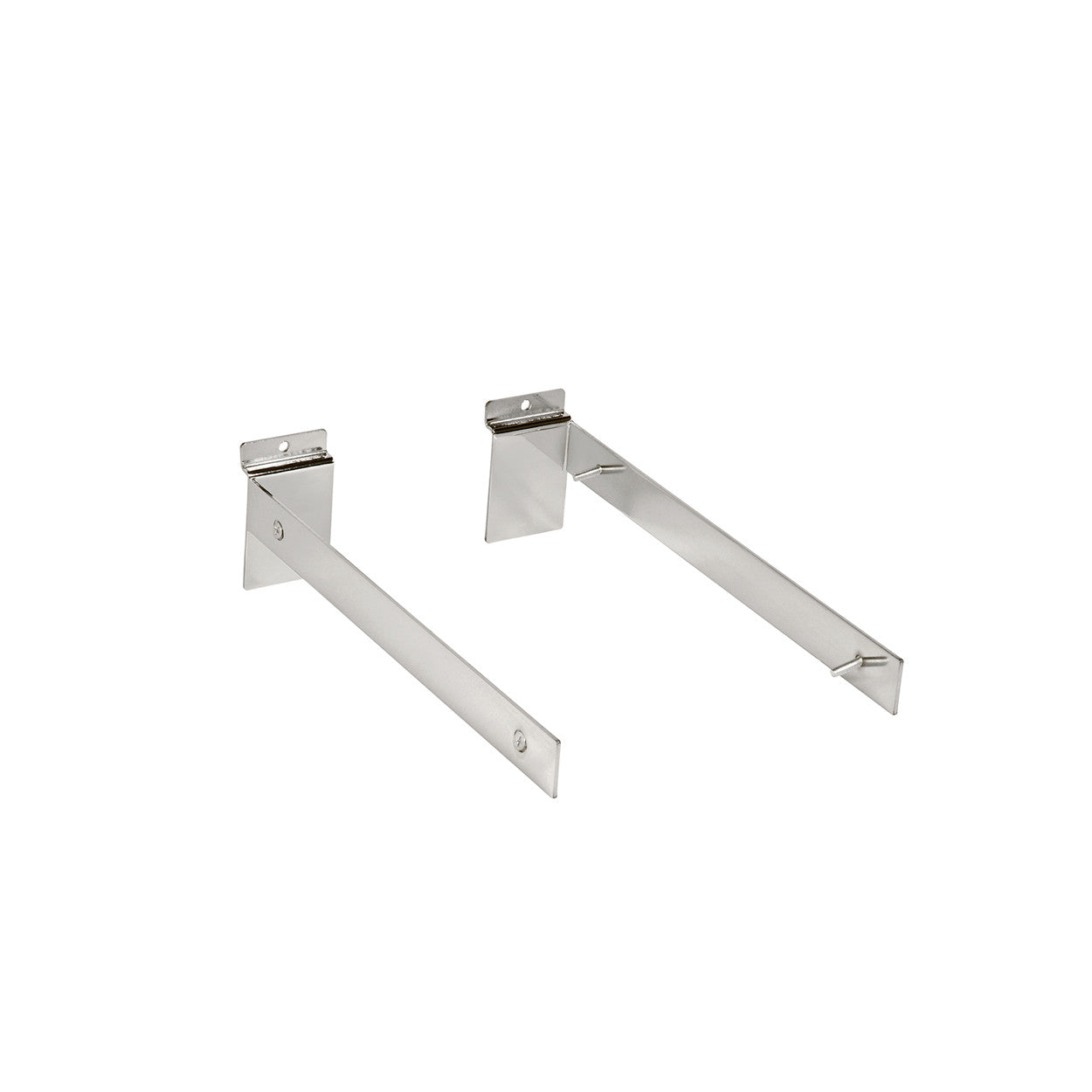Slot System Fixed Shelf 300 Mm Bracket Set With Screws 300 D X 30 H X 2.5Mm Thick