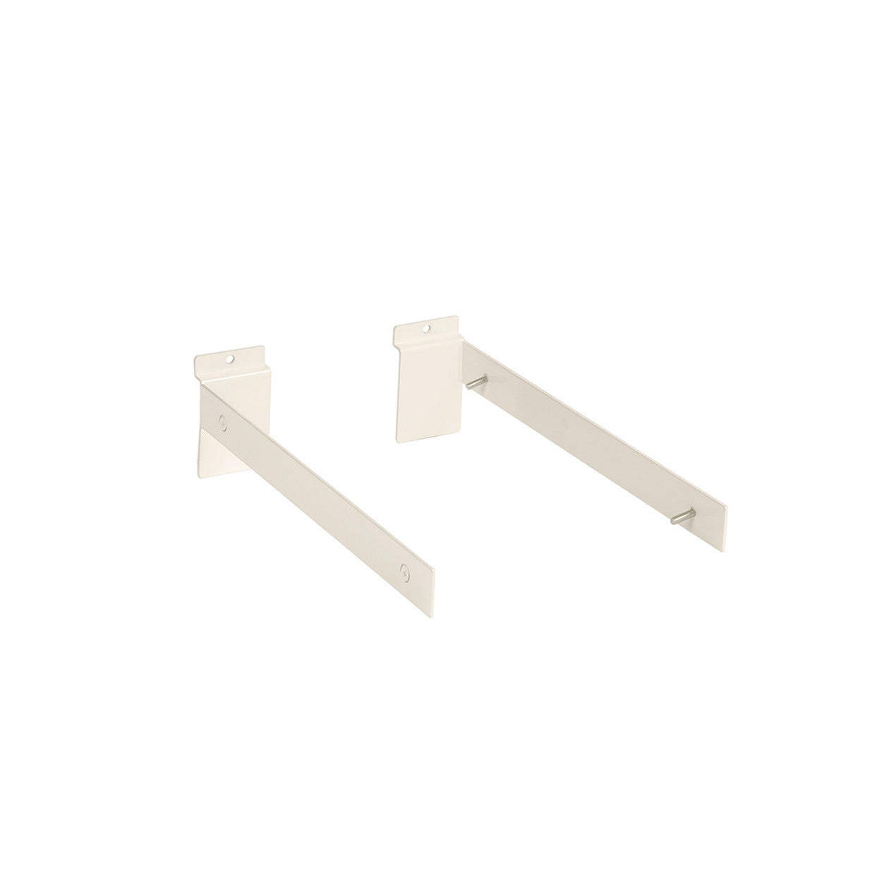 Slatwall bracket set for 30 mm x 300 mm D shelf  300 D x 30 H x 2.5 mm Thick S1673WH
