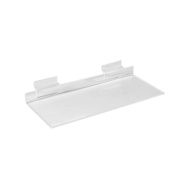 Slatwall acrylic shelf   250 W x 100 mm D S2500CA