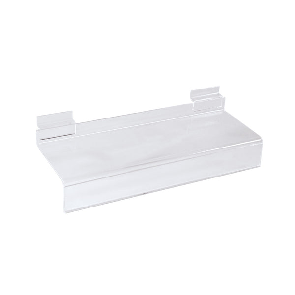 Slot System Acrylic Shelf With Ticket Provision 293 W X 100Mm D