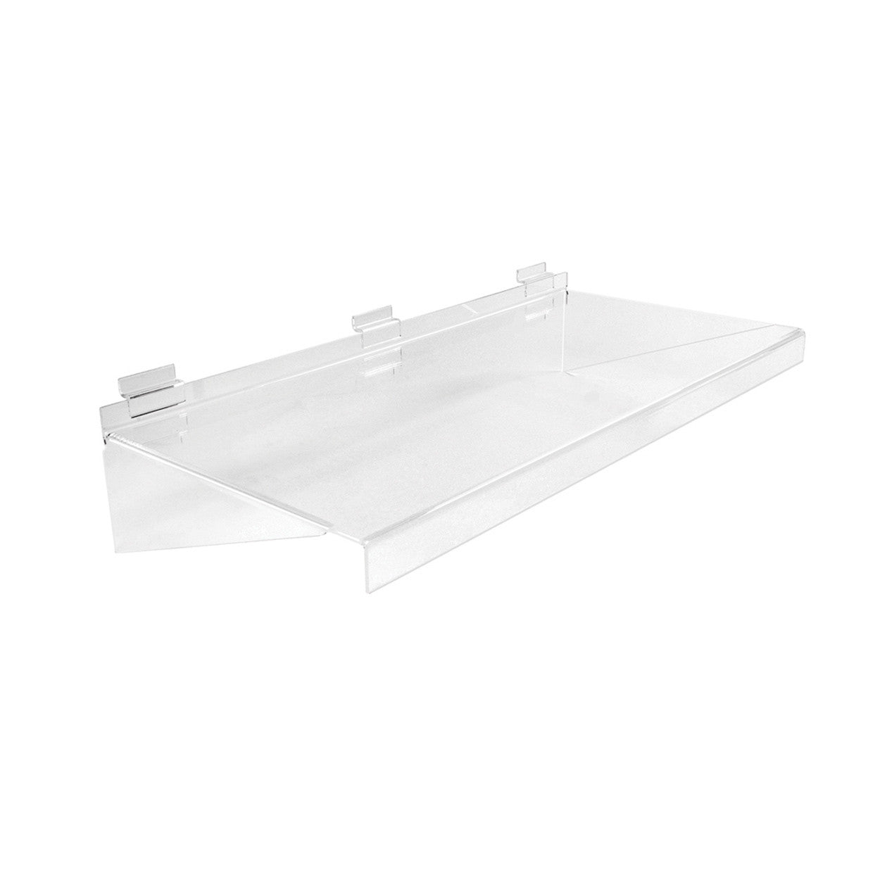 Slot System Acrylic Shelf  586 W X 280 D X 133Mm H