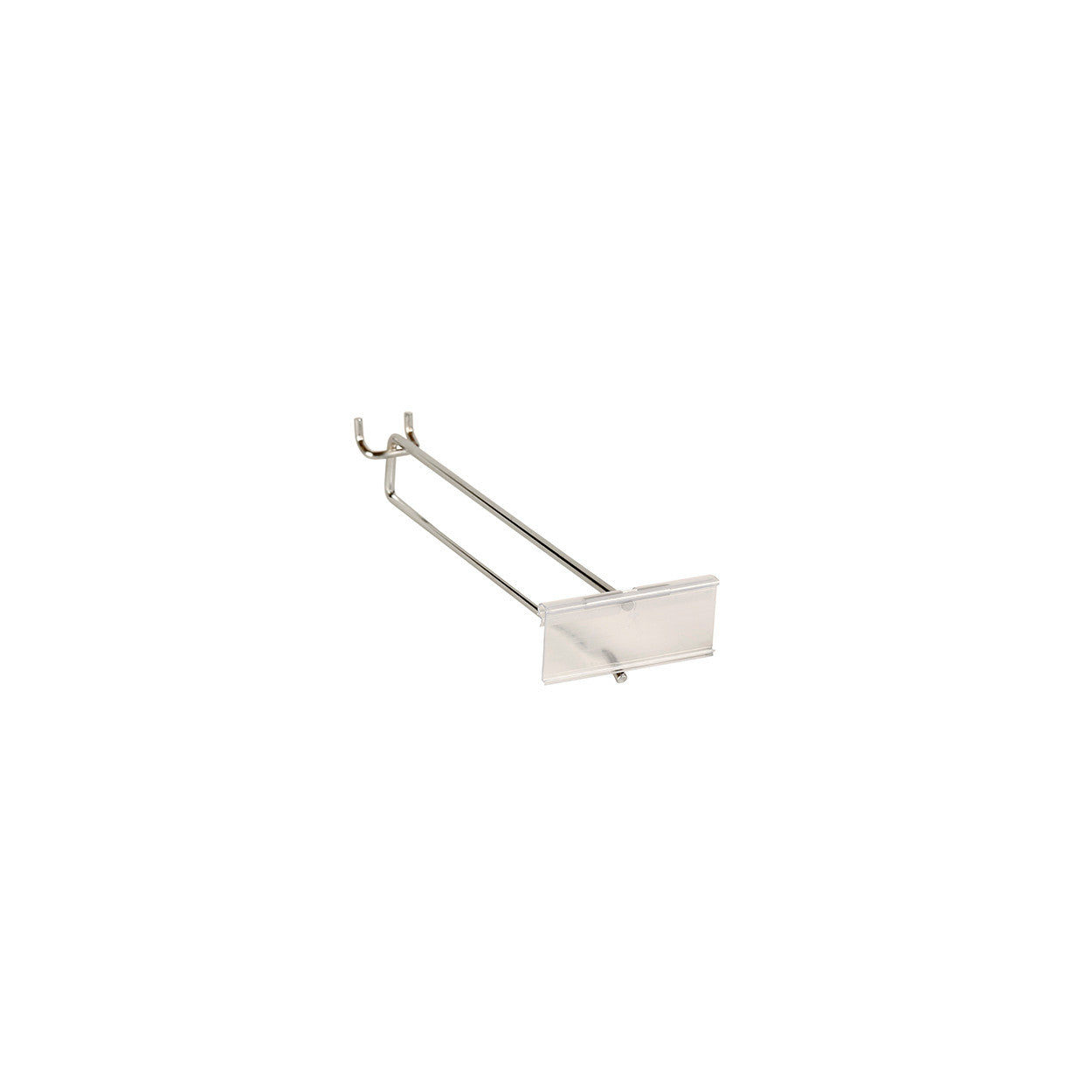 Slatwall / Pegboard Hook with 80mm x 26 mm Flipper Scan Plate (225mm L x 5mm DIA)