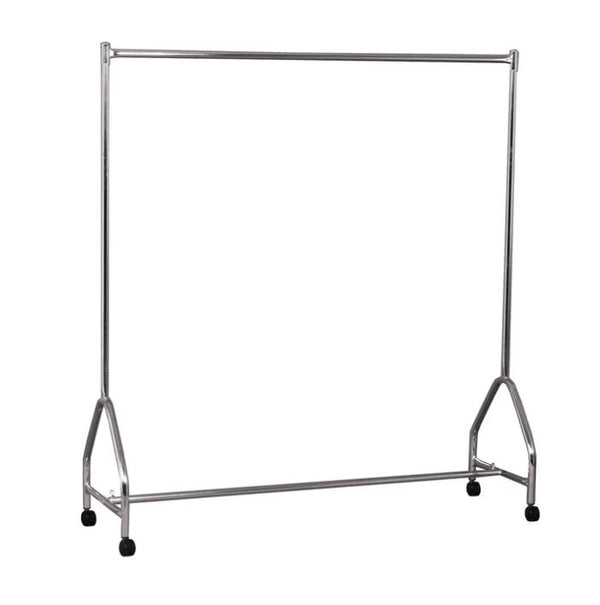 RENT Fashion clothes rack single rail on castors 1560 W x 1680 H x 490 mm D RENTR1070CH
