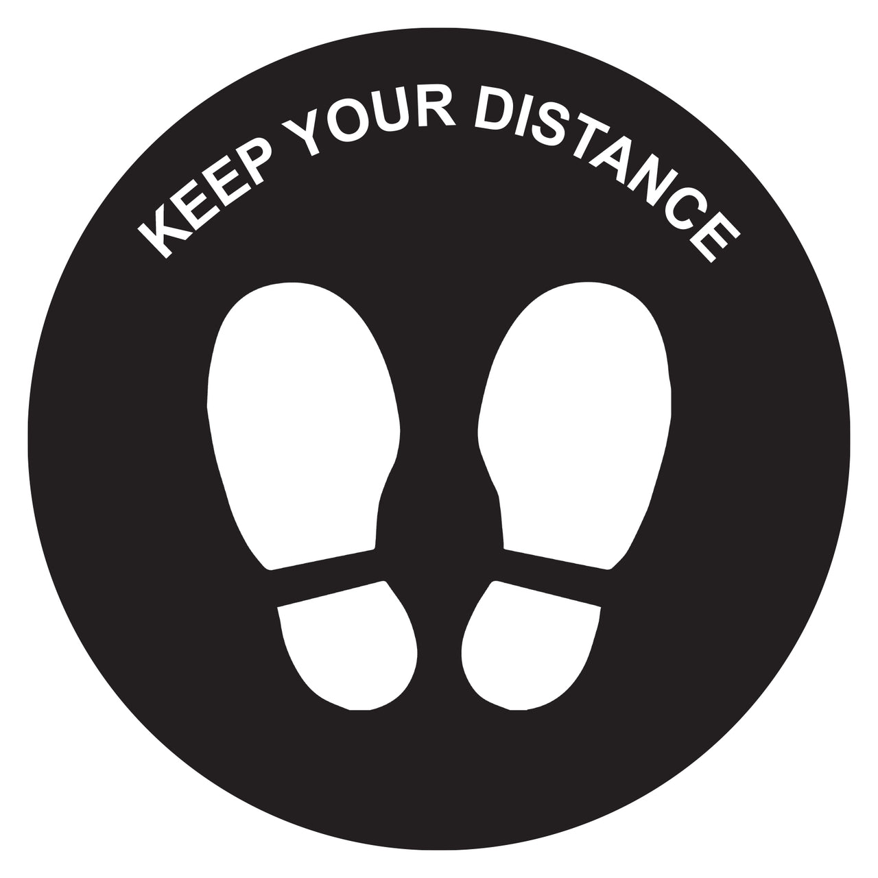 Keep Your Dist Anti-slip Floor Sticker 250mmD Pkt of 10 TR9902
