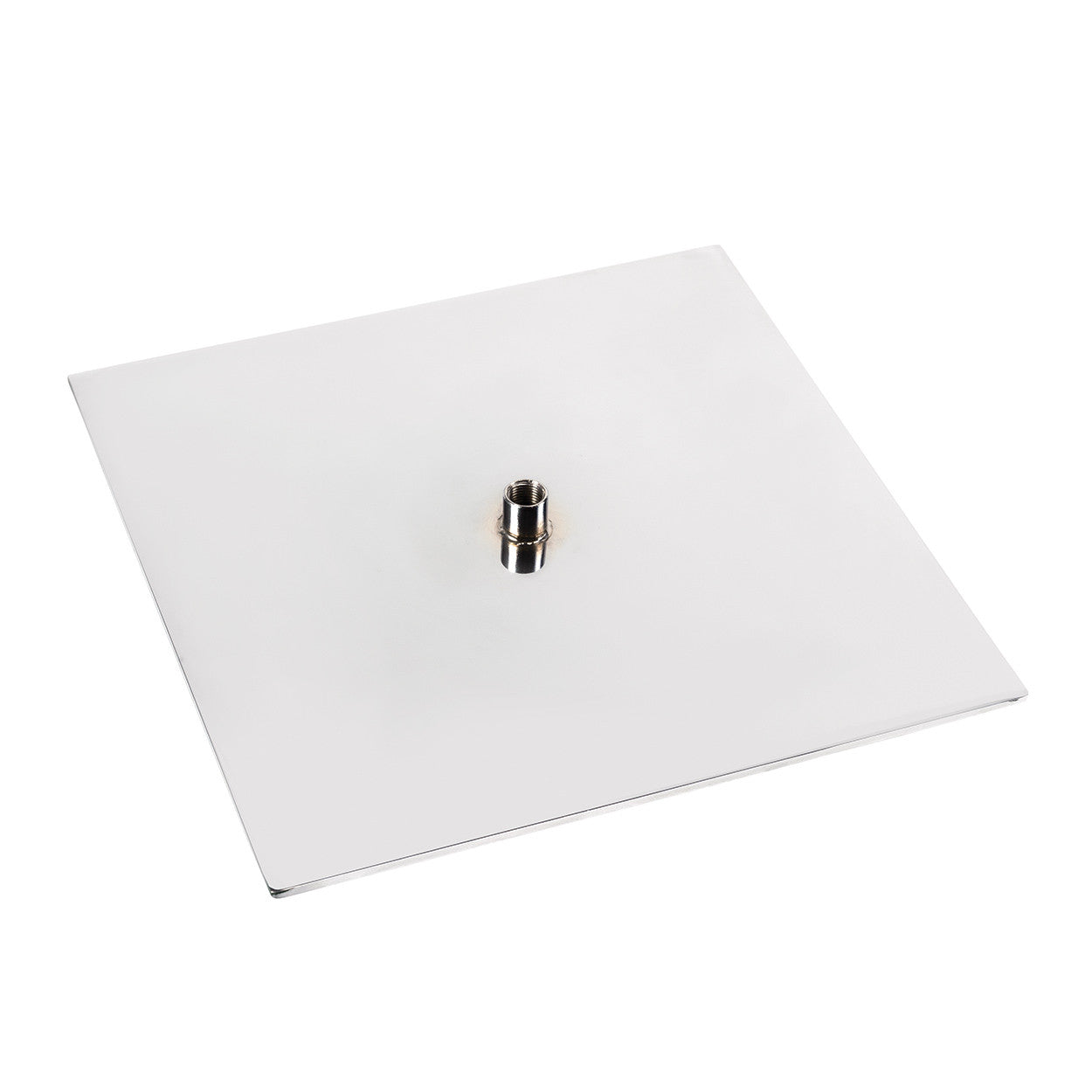 Signage hardware flat base with central fixing  200 W x 200 D x 15 mm H