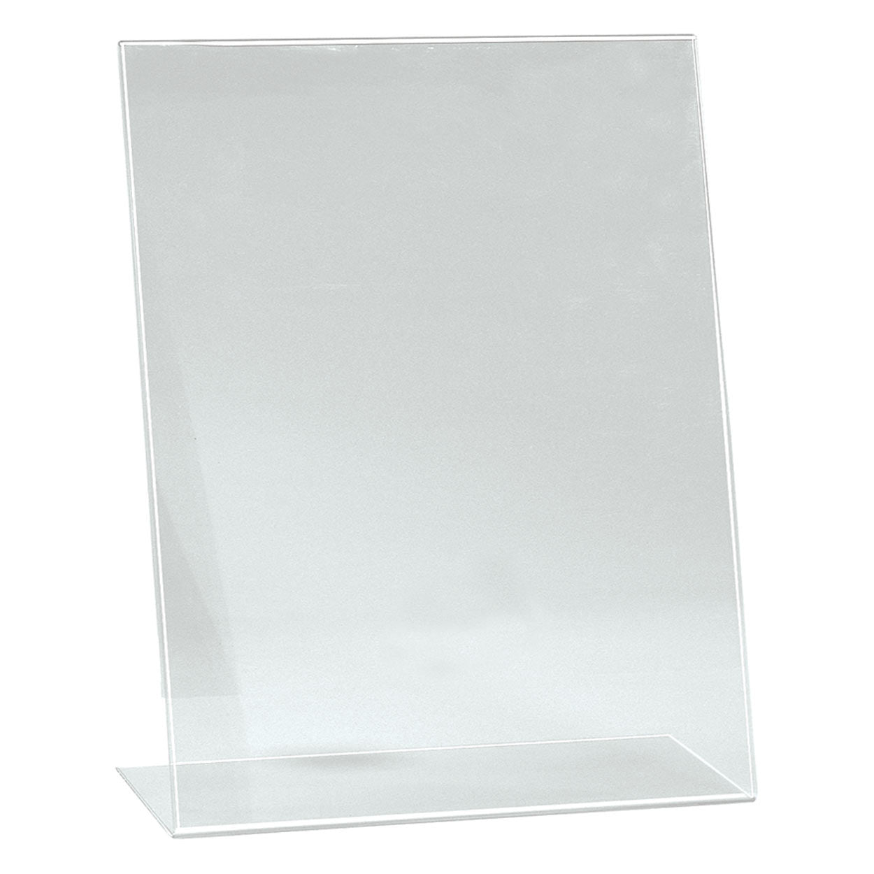 Single sided angled acrylic sign holder  A3 Portrait with 130 mm D Base T2705CA