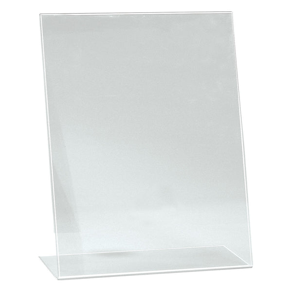 Angled Acrylic Sign Holder Single Sided Display A3 Portrait With 130Mm D Base