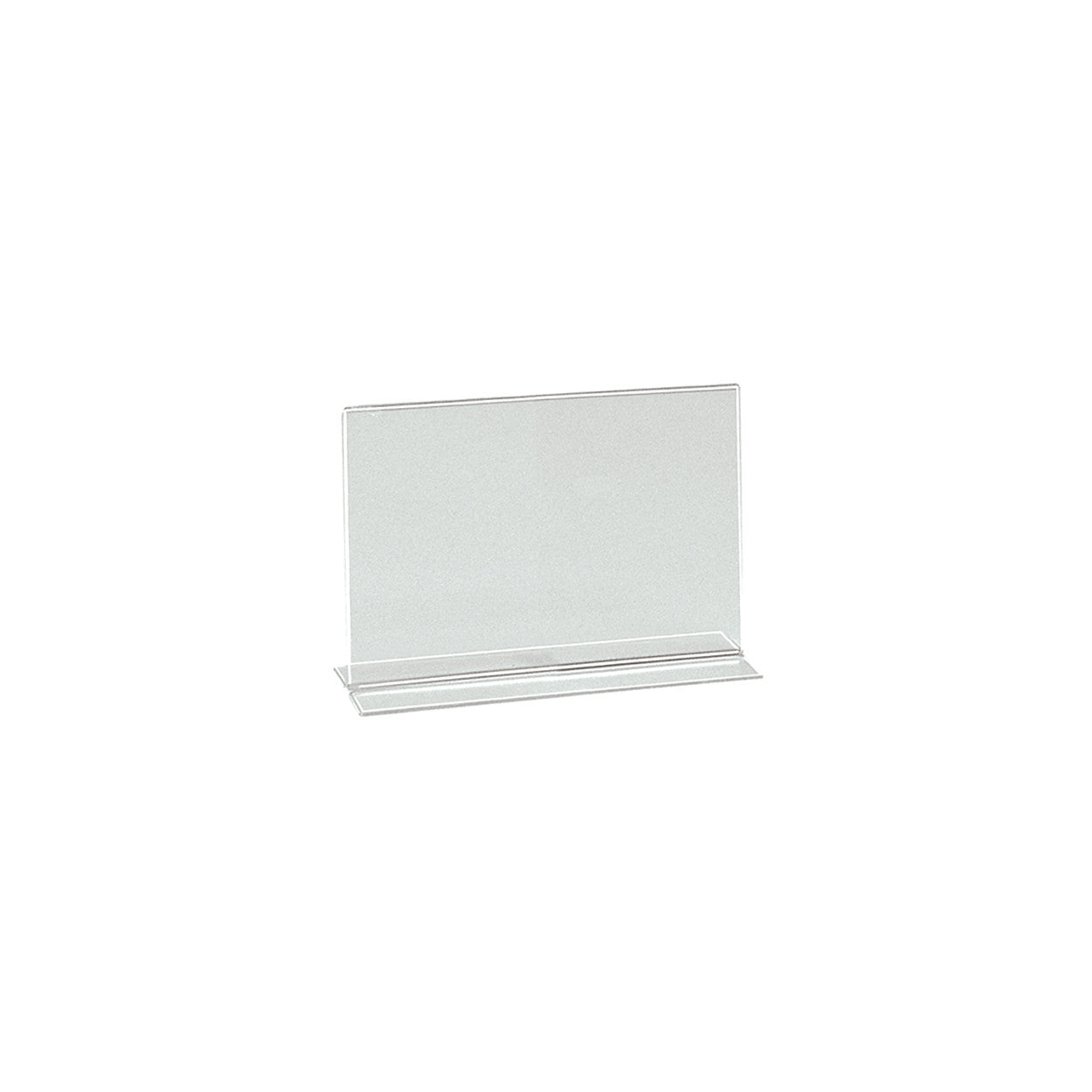 Double sided acrylic sign holder  A6 Landscape with 60 mm D Base T2736CA