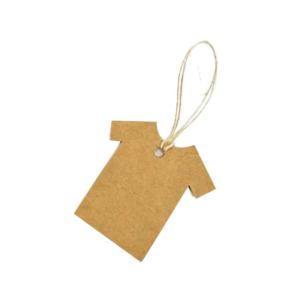 Tee Swing Tag Brown 50X50mm (100pcs/ pack)